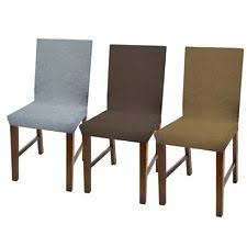 damask dining chair slip cover stretch fit parson chair seat set of 2 4