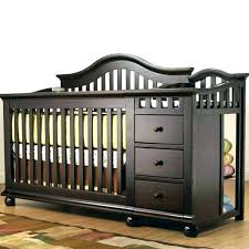 gray crib with changing table grey baby cribs and nursery bedding gra