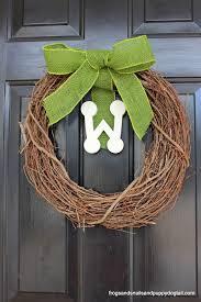 initial wreaths for front doorInitial Wreath for Front Door Makeover  FSPDT
