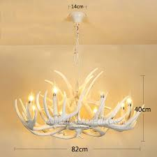 pure white 8 deer antler chandelier candle style eight ceiling lights hanging rustic lighting fixtures