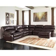 Exellent Leather Sectional Sofa Bed 6 Piece Reclining C Intended Inspiration