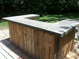 Diy Outdoor Projects Concrete Bar Top On My Outdoor Bar The Shack Pinterest