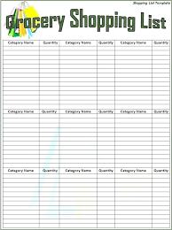 Thanksgiving Grocery List Template Grocery List Template Free Printable Planner Templates