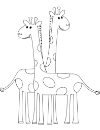 Small Picture Two Cartoon Giraffes coloring page Free Printable Coloring Pages