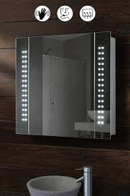 Bathroom mirror cabinets with lights Surface Mount Galactic Illuminated Led Bathroom Mirror Cabinet Wayfair Illuminated Mirrors Bathroom