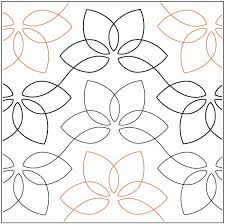 685 best Machine Quilting Patterns images on Pinterest | Quilt ... & Lotus Blossom - Pantograph Adamdwight.com