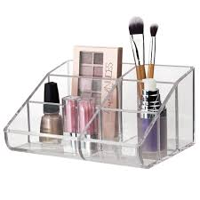 plastic makeup organizer put bathroom: premium quality clear plastic cosmetic storage and makeup palette organizer