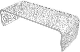 outdoor metal table. Wonderful Metal Modern Metal Outdoor Coral Coffee Table Brilliant White Throughout Table E