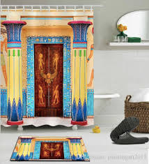 Bathroom decor shower curtains Floor To Ceiling 2019 3d Egyptian House Door Print Bath Shower Curtains Modern Style Shower Curtain For Bathroom Decor With 12 Hooks Floor Mats Sets From Paintingart2017 Dhgatecom 2019 3d Egyptian House Door Print Bath Shower Curtains Modern Style