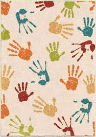 orian rugs kids handprints ivory area rug