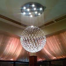 modern sphere crystal chandelier ceiling light round pendant lamp led