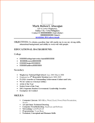 Amusing Objectives In Resume For Ojt In Sample Resume For Ojt Hrm