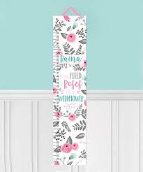 Toad And Lily Growth Chart Toad And Lily Field Of Roses Personalized Growth Chart Zulily