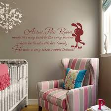 Peter Rabbit Wall Quote   Baby Nursery Wall Decal Kids Room Wall Sticker  Children Bedroom Decal