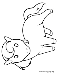 Small Picture Horses A cute little horse coloring page