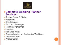 Wedding Planner Ppt Wedding Planner Ppt Under Fontanacountryinn Com
