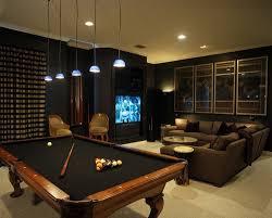 custom pool tables. Dark Media Room With Pool Table Custom Tables