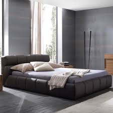 modern leather platform bed