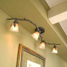 full image for contemporary track light with decorative leaves can i mount track lighting on wall