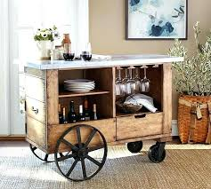 unique bar furniture. Industrial Bar Cart Unique Furniture Zinc Top Pottery Barn U