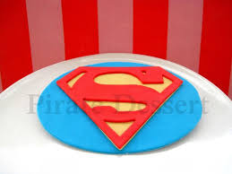 Edible Cake Topper Superman Logo Man Of Steel Justice League