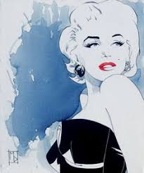 marilyn cold shoulder a acrylic on by mice delecki from united states