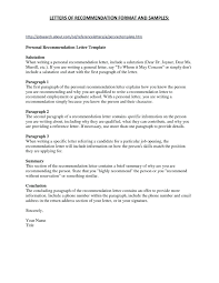 Teacher Recommendation Resumes 7 Character Letter For A Friend Resume Reference Re Mendation From