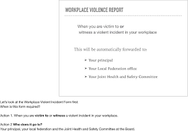Violent Incident Reporting For Kpr Etfo Members Pdf