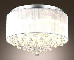 flush mount crystal chandelier home depot semi french empire gold jolie chrome drum shade lighting