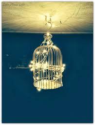 diy bird cage chandelier