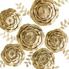 Paper Flower Wedding Centerpieces Key Spring 3d Paper Flower Decorations Giant Paper Flowers Large Handcrafted Paper Flowers Gold Set Of 6 For Wedding Backdrop Bridal Shower