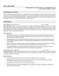 Retail Manager Resume Samples Resume Sample For Retail Retail