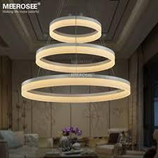 modern restaurant lighting. led pendant lights modern round lamp light for living room pendelleuchte lustres 3 rings restaurant fixture lighting