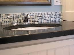 glass mosaic tile backsplash install kitchen gltile enchanting bathroom tiles floor silver black blue white for