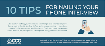 Tips For Interview 10 Tips For Nailing Your Phone Interview Consolidated