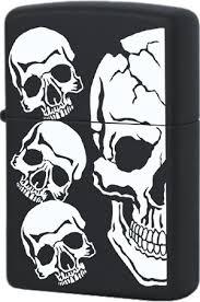218 <b>Зажигалка Zippo Skull</b>, Black Matte