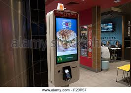 Mcdonalds Vending Machine Beauteous Mcdonalds Restaurant Ordering Machine Mcdonald Europe Stock Photo