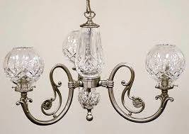 3 arm chandelier lismore by waterford