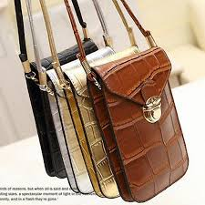 Fashion <b>Women</b> Crossbody Cell Phone <b>Bags Vintage Women</b> PU ...