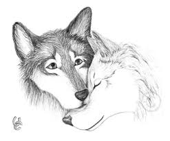 Czeshop Images Drawings Of Wolves In Love