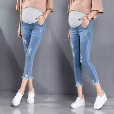 7 For All Mankind Maternity Size Chart 817 7 10 Length Summer Autumn Fashion Maternity Jeans High Waist Belly Skinny Pencil Pants Clothes Pregnant Women Pregnancy