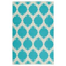 brisa turquoise 8 ft x 10 ft indoor outdoor reversible area rug