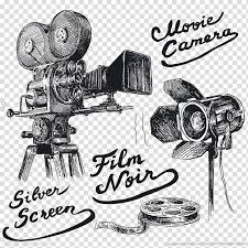 Videocamera Illustration With Text Overlay Graphic Film Movie