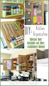 Kitchen Cabinet Organization Tips Kitchen Organization Ideas For The Inside Of The Cabinet Doors