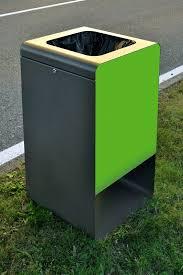 Exterior Trash Cans Minimalist Design