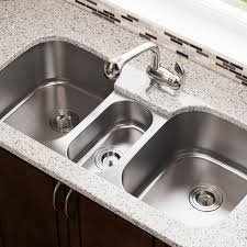 Mr Direct Undermount Stainless Steel 43 In Triple Bowl Kitchen Sink