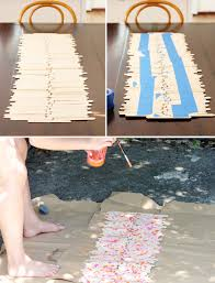 diy instructions for a popsicle stick runner at home in love