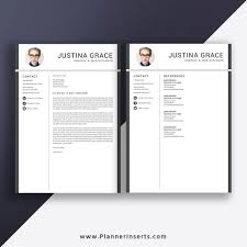 Resume Template Word 2020 Professional Cv Template Cover Letter Modern Unique Resume Student Resume Fresh Graduate Resume Internship Resume