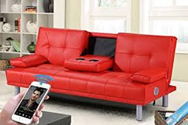 red sofa bed. Simple Bed Sleep Design Manhattan Bluetooth Sofa Bed  Red Inside Amazon UK