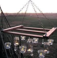 outdoor wood chandelier designs diy candle